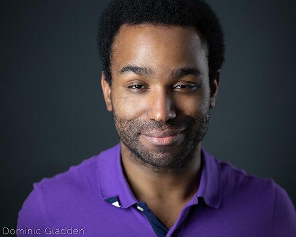 Portrait of actor Dominic Gladden