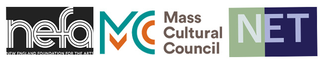 Logos of the Mass Cultural Council, NEFA, and the Network of Ensemble Theaters