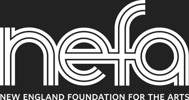 NEFA logo - white lowercase letters on black
